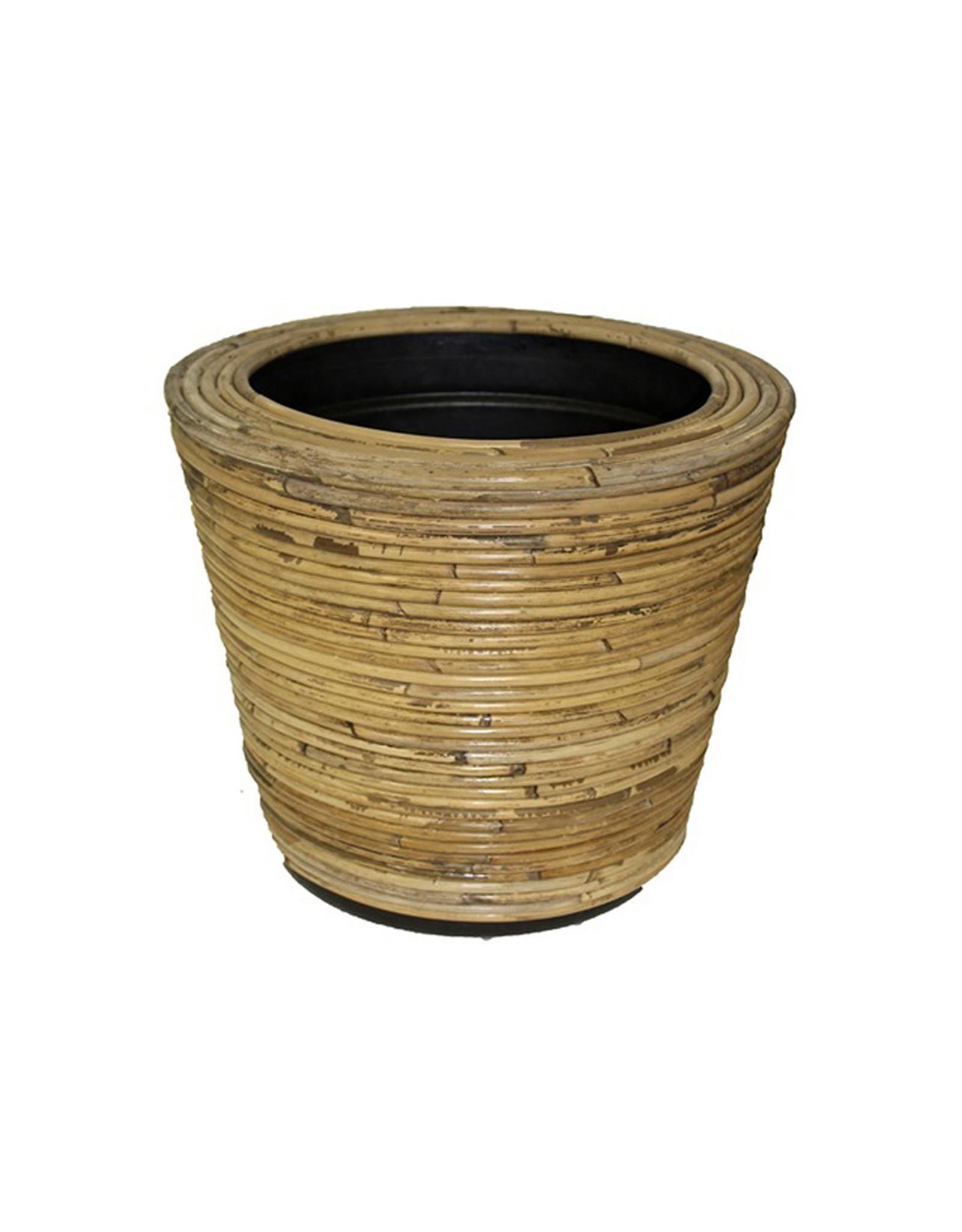 Van der Leeden Mandwerk Drypot Round Stripe Natural