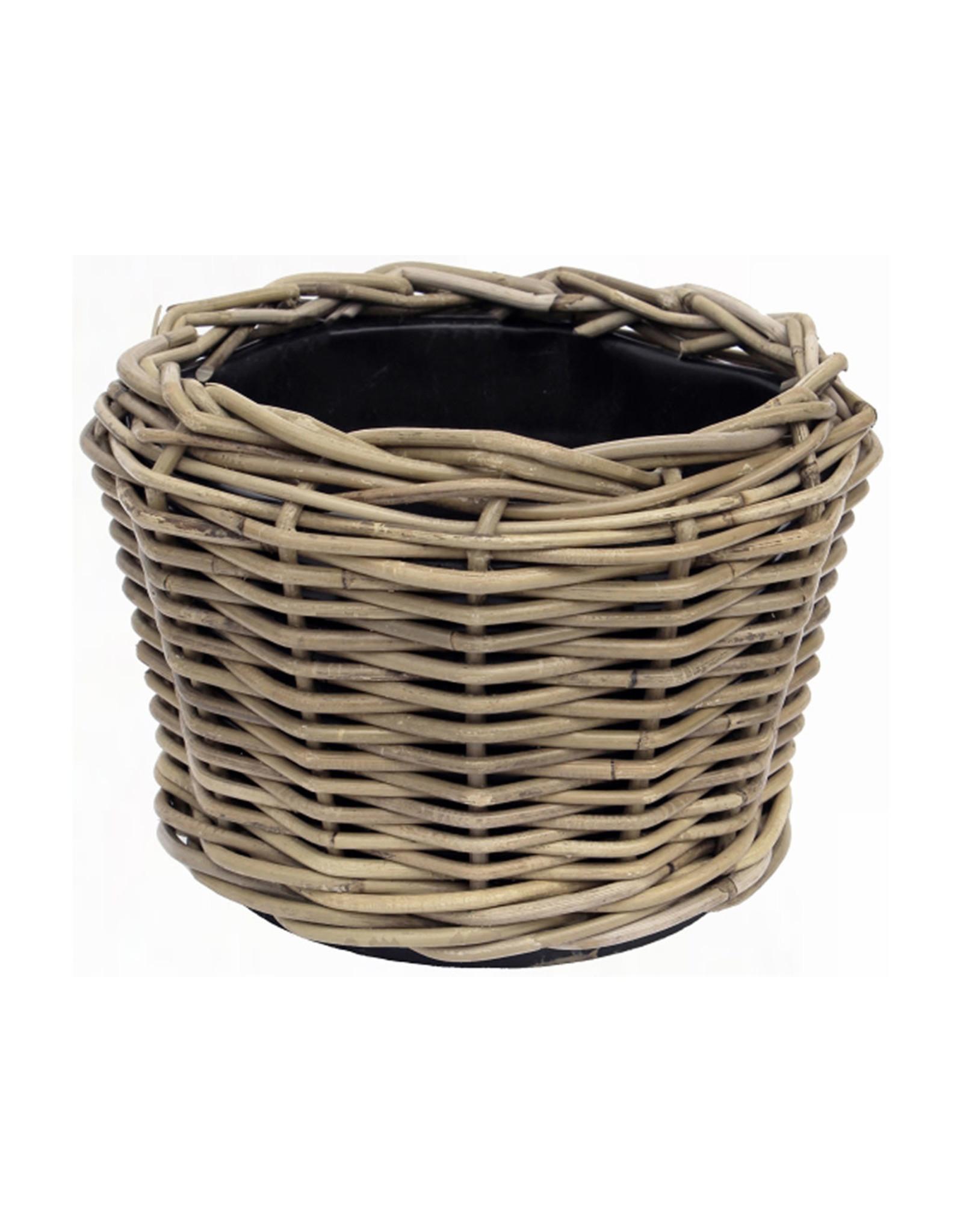 Van der Leeden Mandwerk Drypot Planter - Rattan Grey