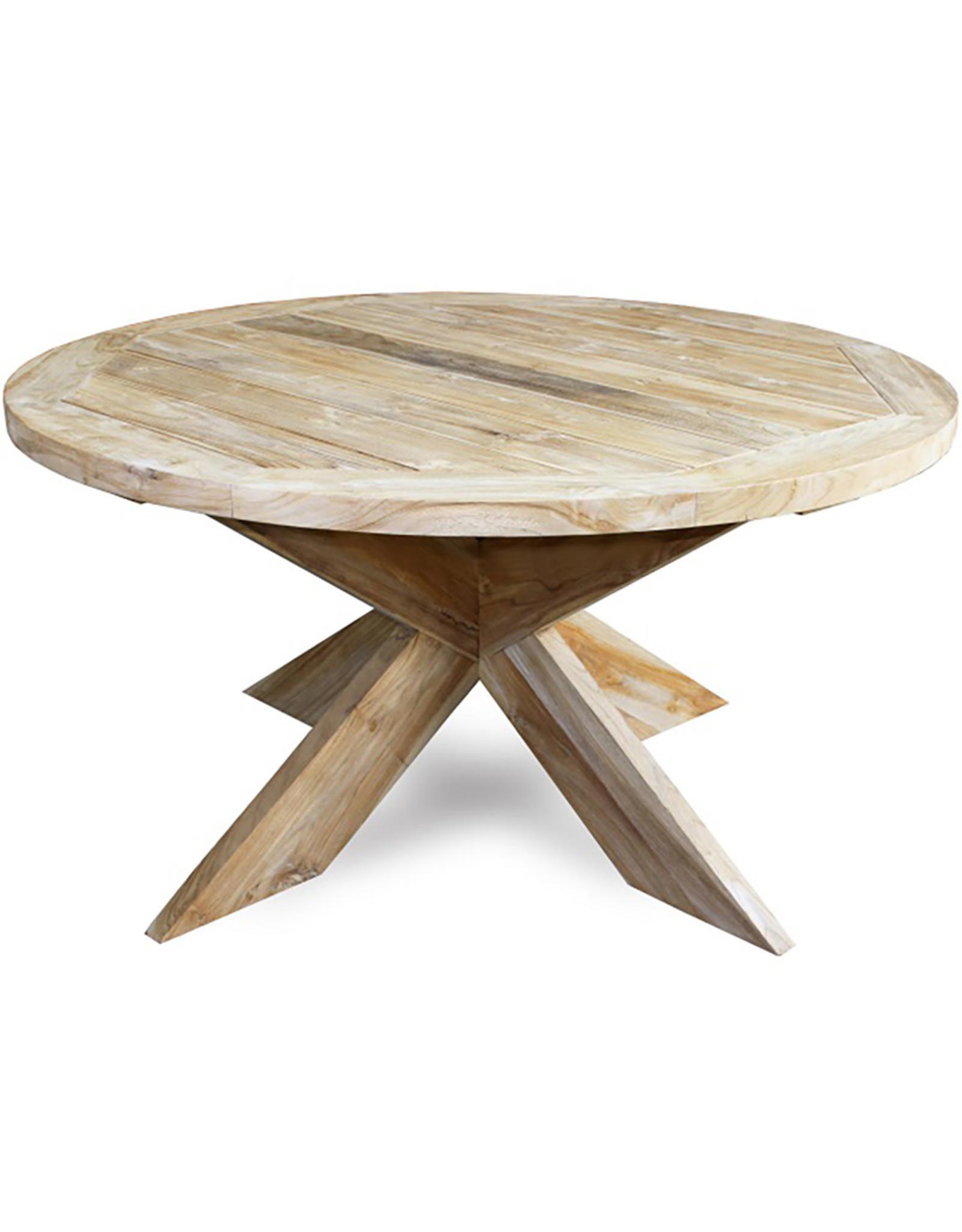 Van der Leeden Mandwerk Dining Table Teakwood X-Leg