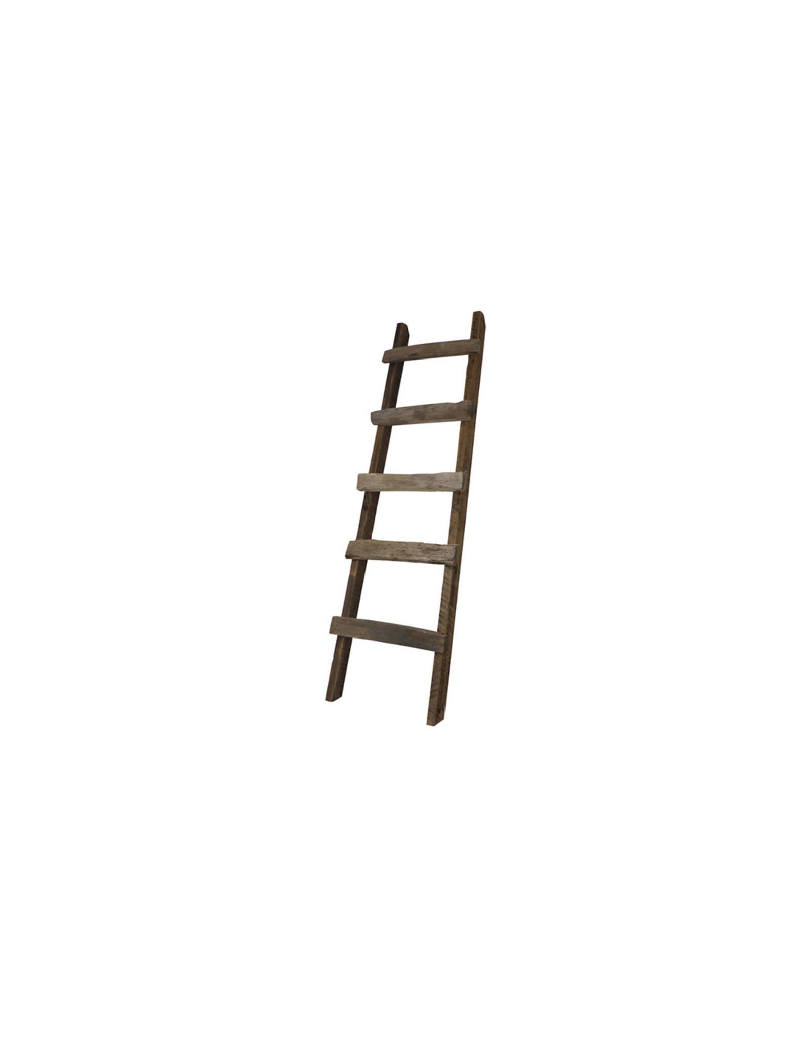 Dijk Historic wood deco ladder natural 180x39/55cm