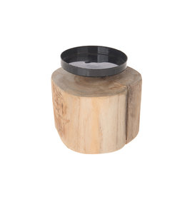 Dijk Teak root candle holder natural 12x12x8cm