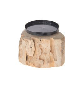 Dijk Teak root candle holder natural 15x15x10cm