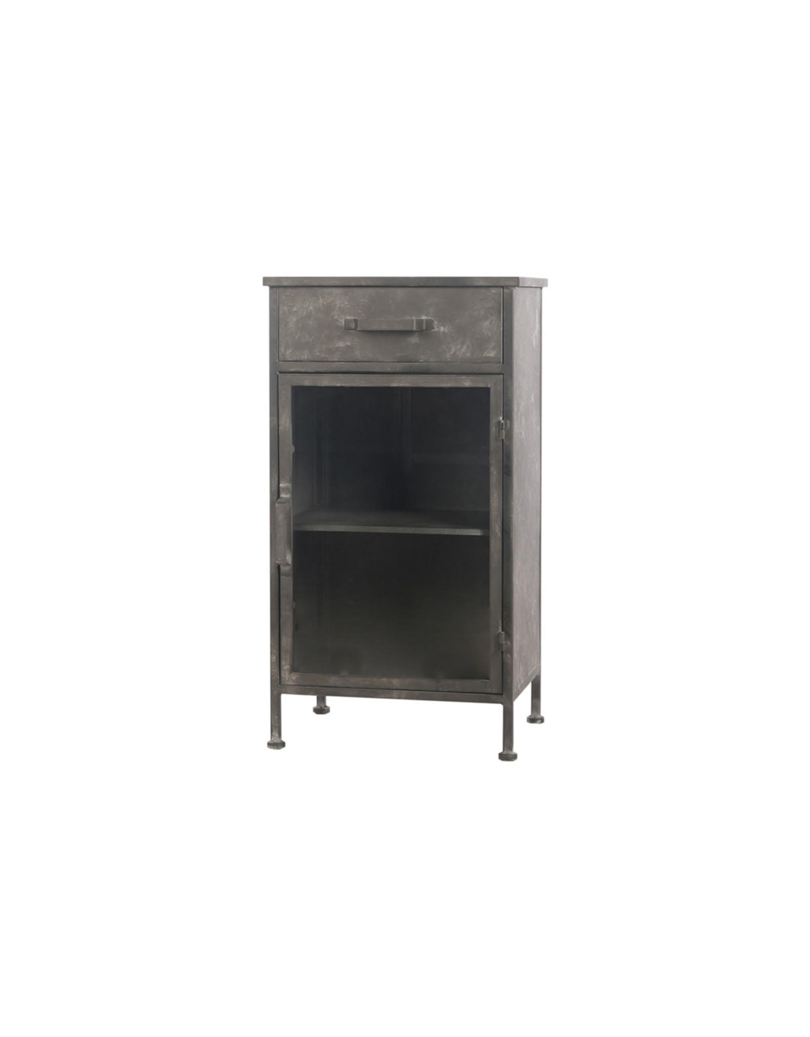 Dijk Cabinet metal antique black 42x32.5x78cm