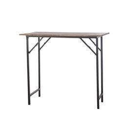 Dijk Vintage wooden table natural  118x103.5x55.3cm