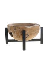 Dijk Bowl on iron frame teak
