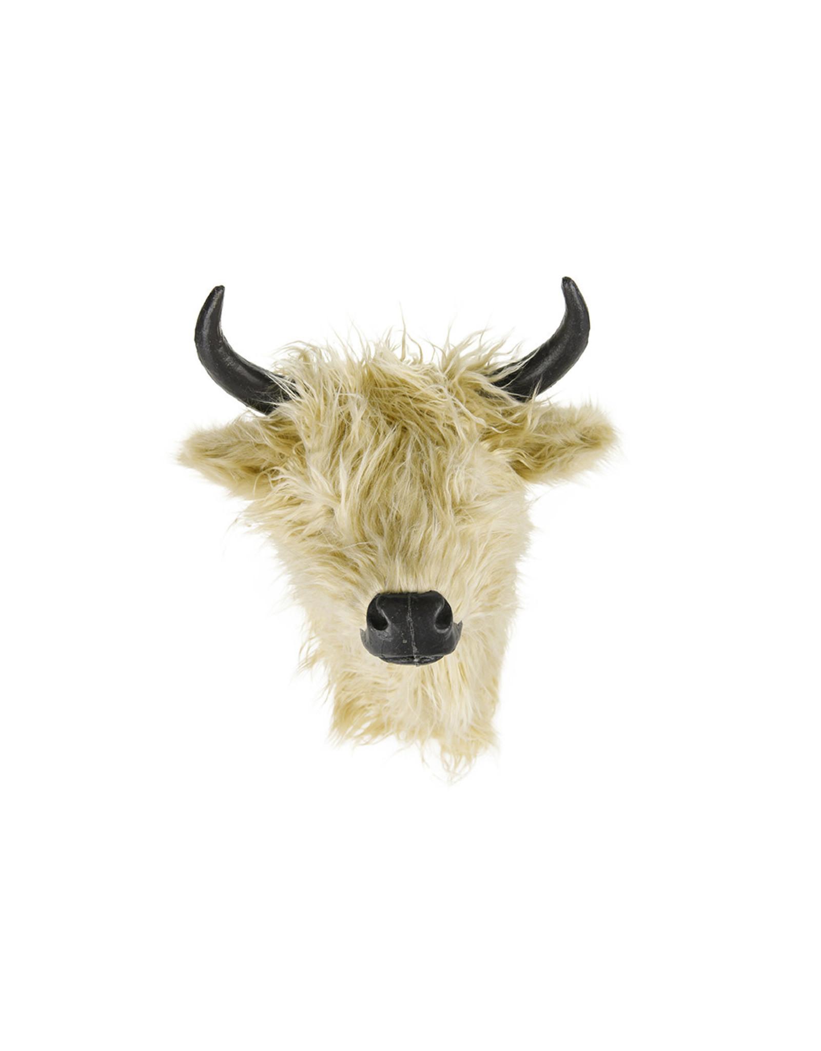Dijk Cow head plush light brown 26x31x32cm