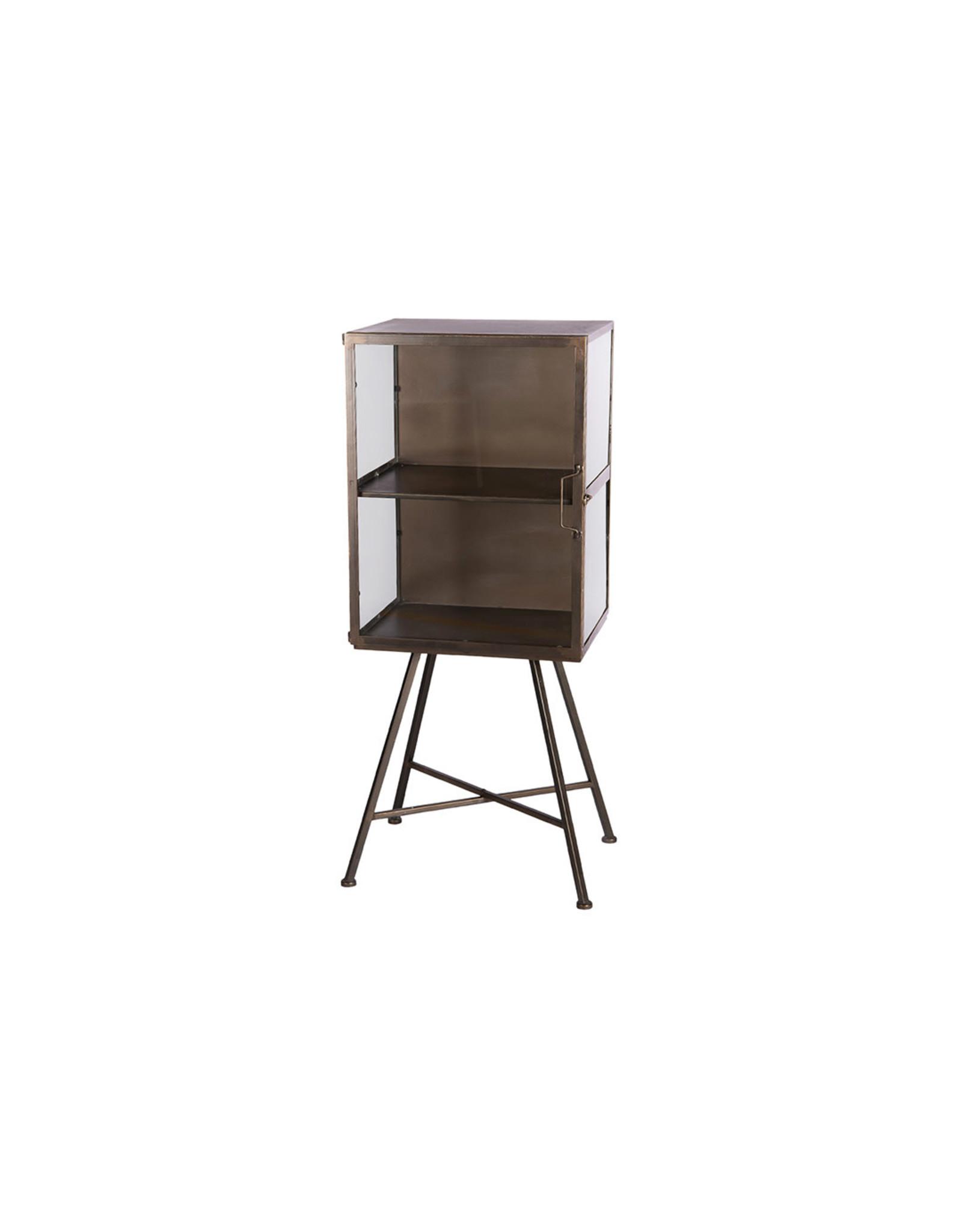 Dijk Cabinet metal antique black 46.5x37.5x110cm
