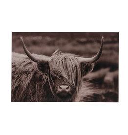 Dijk Wall art cow wood 38x3x58cm