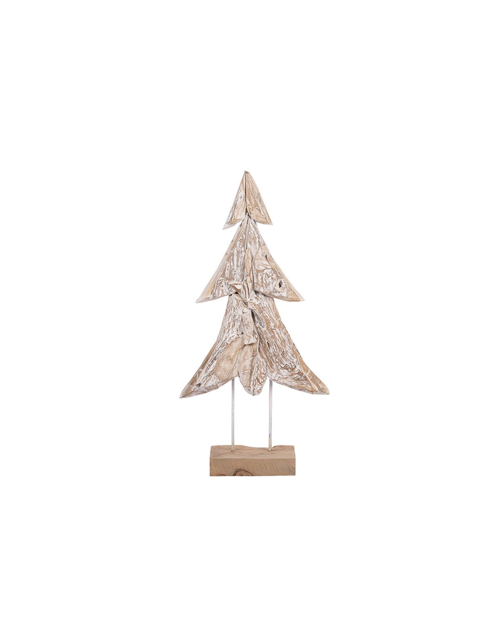 Dijk Christmas tree on stand L teak 56x20x118cm
