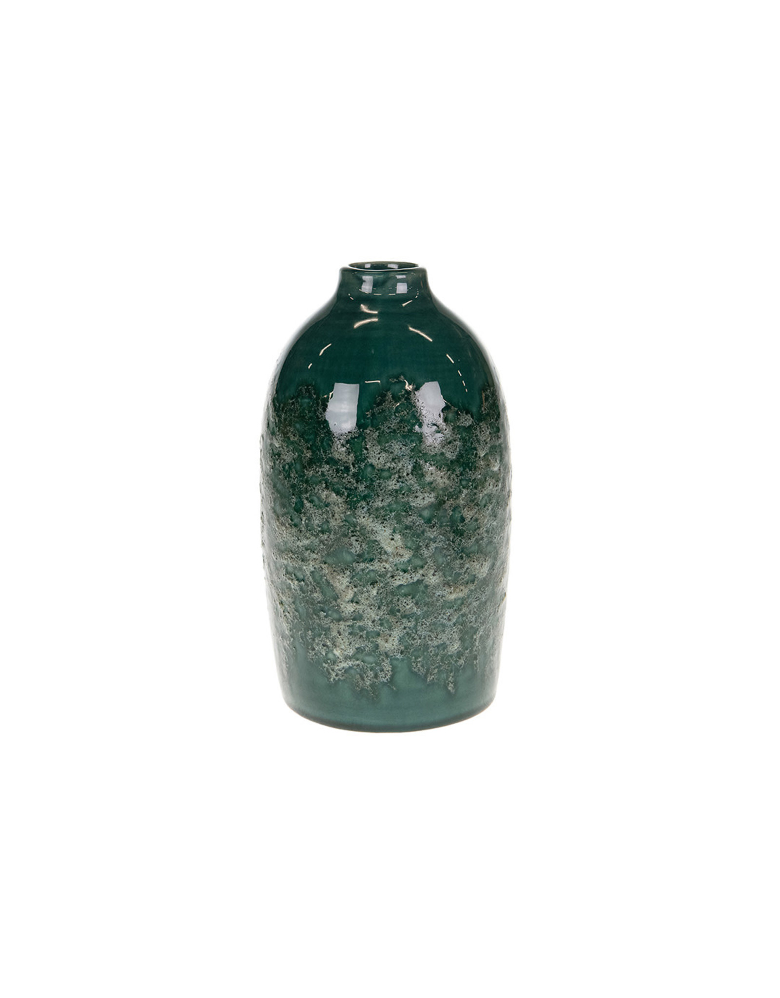 Dijk Bottle ceramic dark green