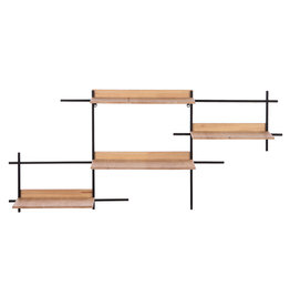Dijk Wall shelf wood/metal