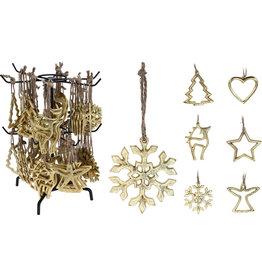 Koopman Hang Deco 10cm Gold