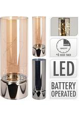 Koopman Glass Cylinder WW Led 25cm