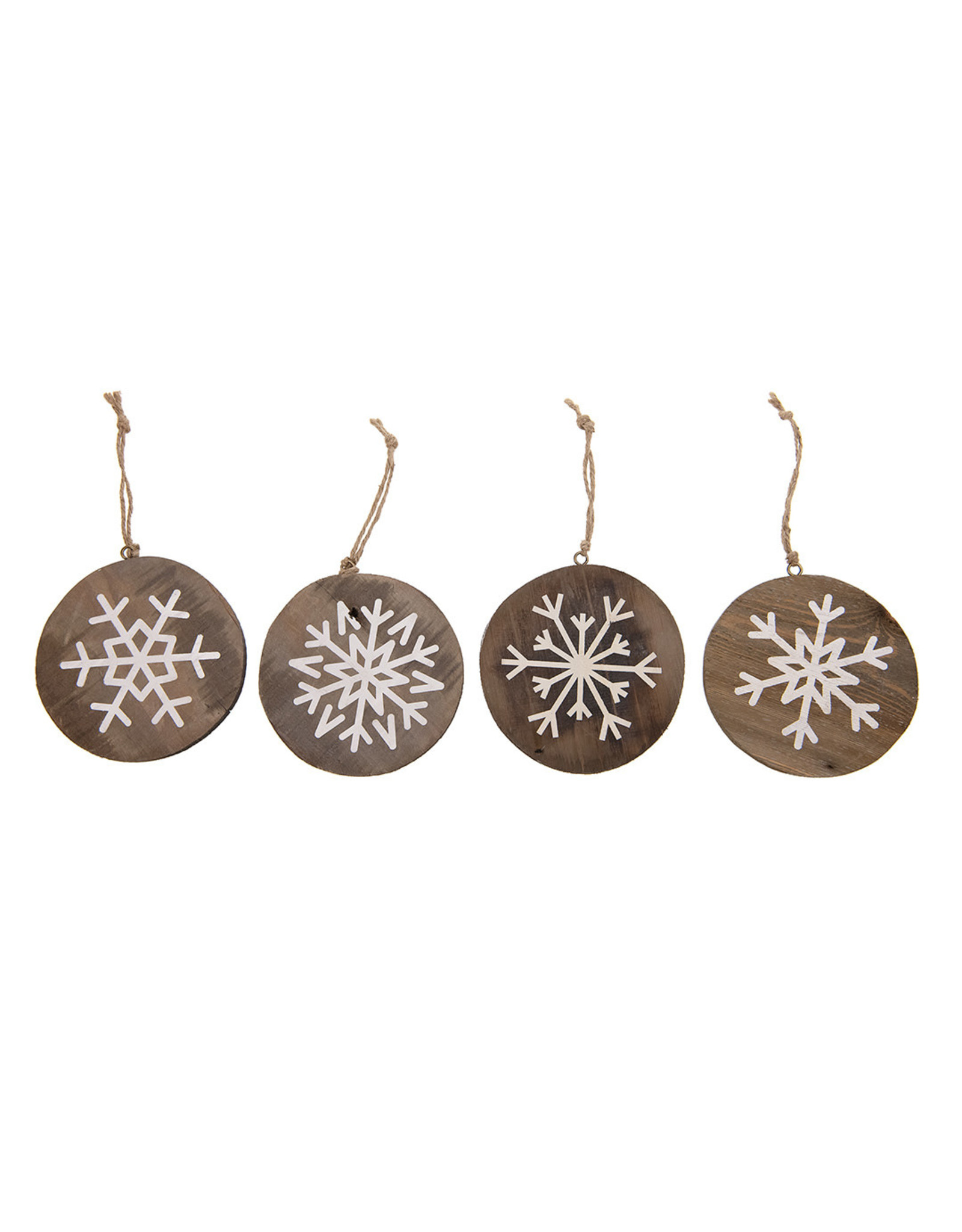 Dijk Hanger snowflake historic wood 12x1.5cm