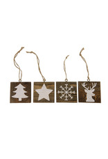 Dijk Hanger christmas historic wood 10x1.5x10cm
