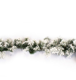 Dinsmore garland led battery operated greenfrosted