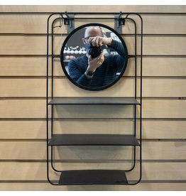 Wall Rack with Mirror