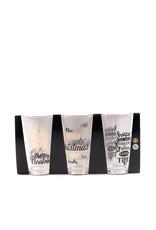 drinking glass set 3pcs