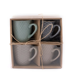 mug stoneware set 4pcs