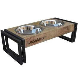 Lex & Max Lex & Max Wooden Feeder with Bowls