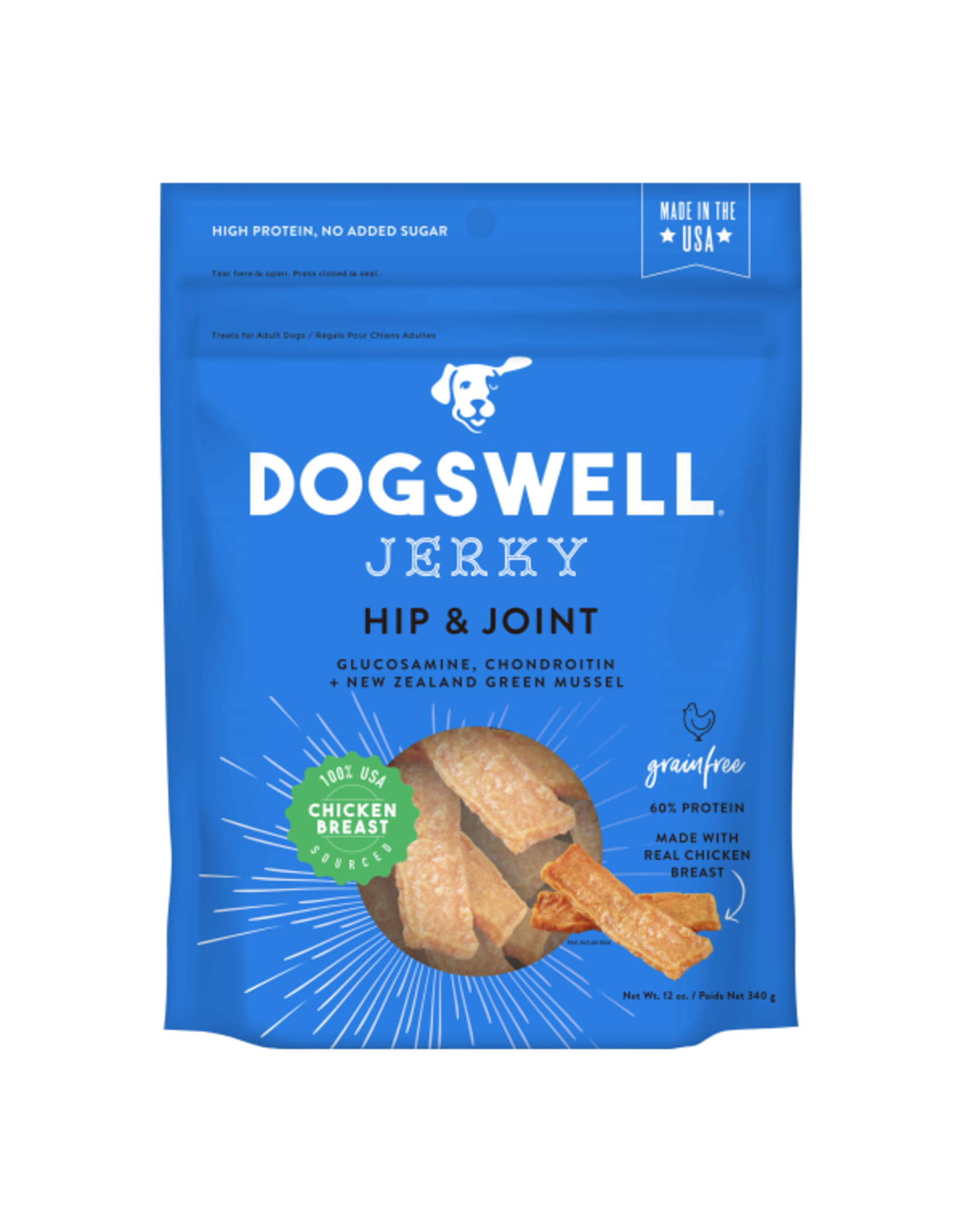 Dogswell-Jerky GF Hip & Joint Chicken-12oz