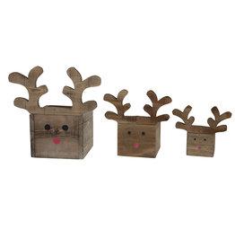 Dijk Planter - Reindeer Historic Wood w/ Plastic Liner