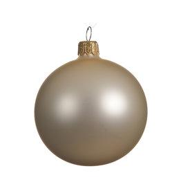Kaemingk Glass ornament matte pearl champagne