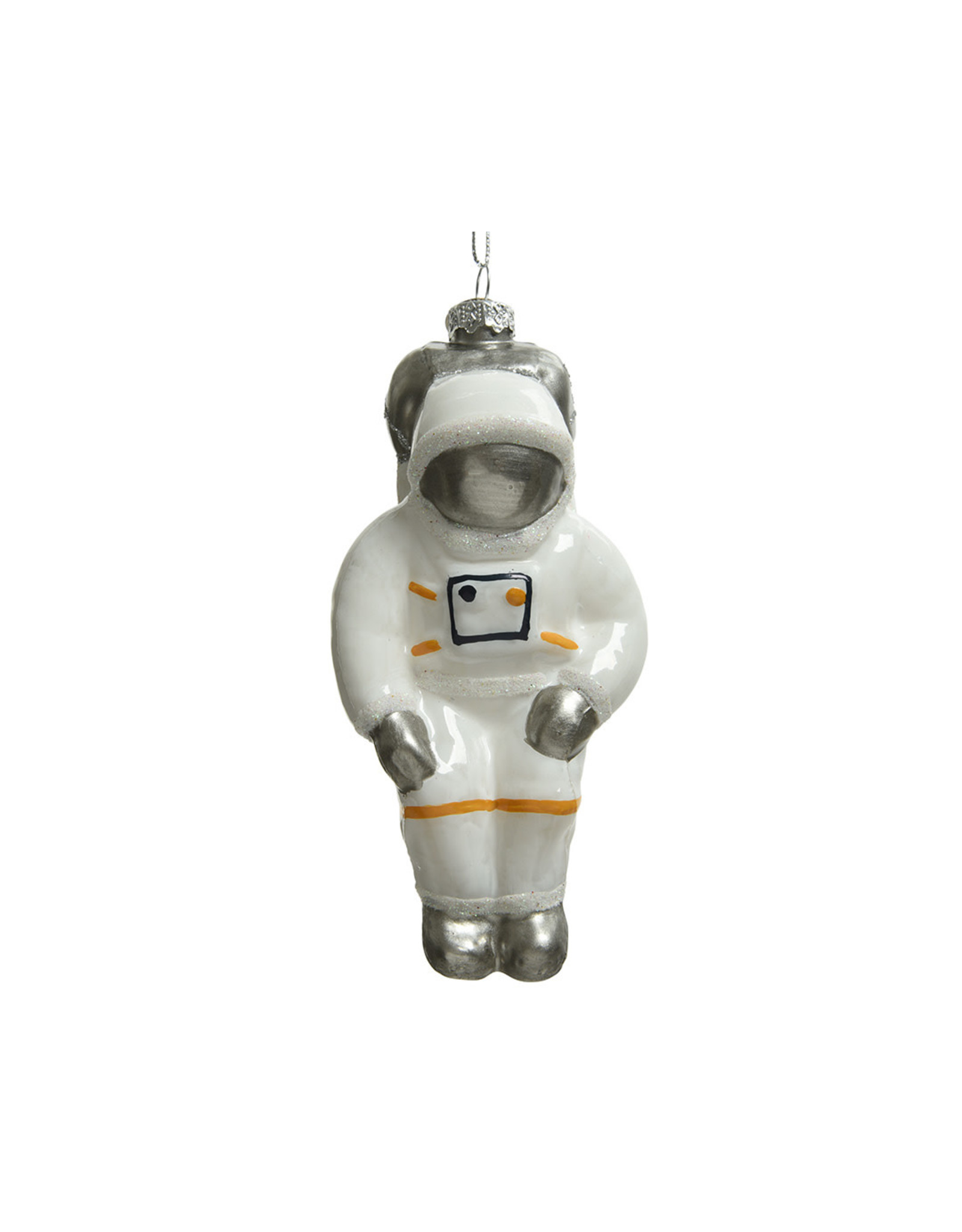 Kaemingk Glass ornament astronaut white with silver