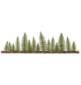 Kaemingk Tablepiece long with mini trees