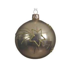 Kaemingk Glass ornament with gold shooting star