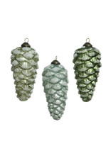 Kaemingk Glass ornament pinecone with glitter