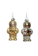 Kaemingk Glass ornament astronaut holding star matte