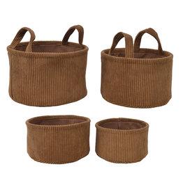 Kaemingk Velvet basket round copper