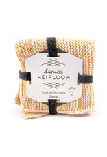 Danica Knit Heirloom Dishcloths - Set of 2 - Ochre