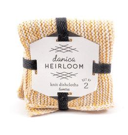 Danica Dish Cloth Set/2 - Knit Heirloom Ochre