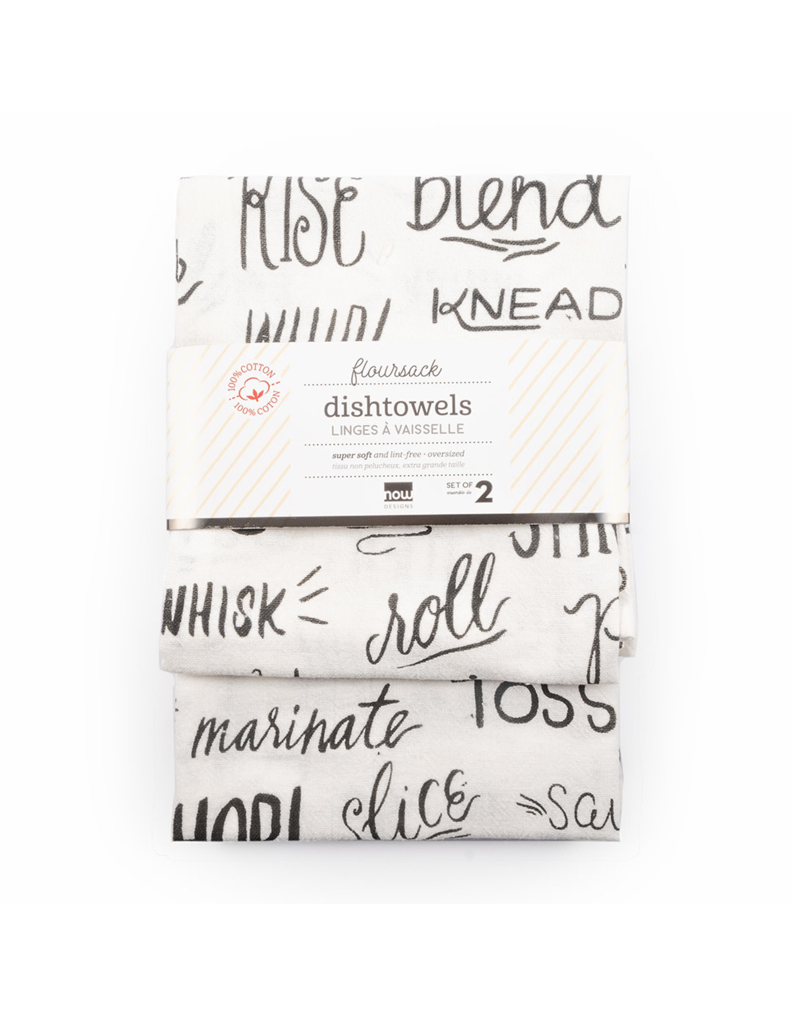 Floursack Dishtowels - Black Print
