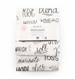 Amigos Floursack Dishtowels - Black Print