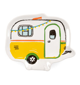 Spoon Rest - Happy Camper Yellow  5.25xL6.35''