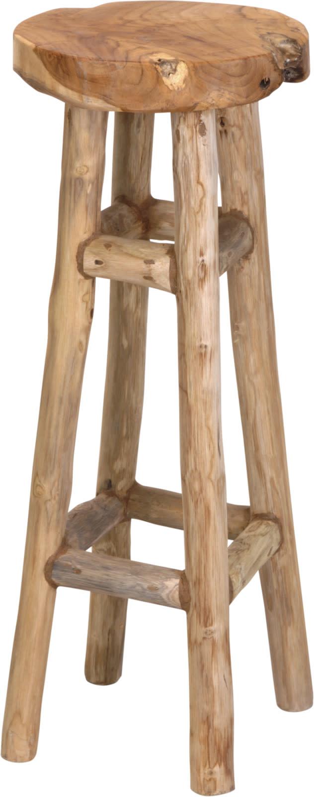 Koopman Bar Stool Teak Wood 30X30X80Cm