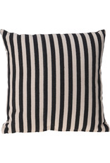 Koopman Cushion 45X45Cm Black Stripe