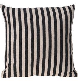 Koopman Cushion 45X45Cm Black Stripe