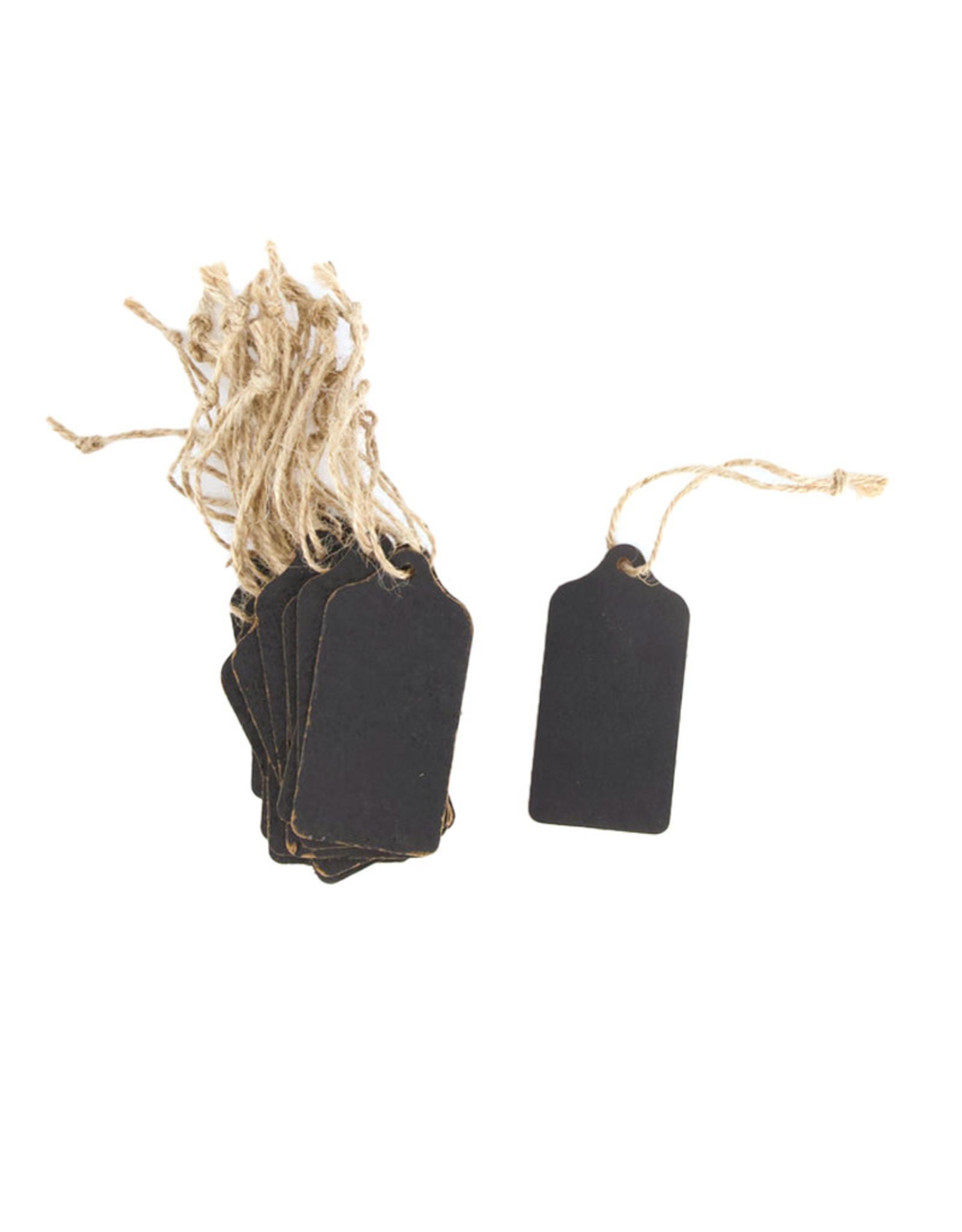 Dijk Blackboard label square/round black 8x4cm 20pc