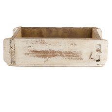 Dijk Brick Mould Without Handle Wood White-Wash 32x15x10cm