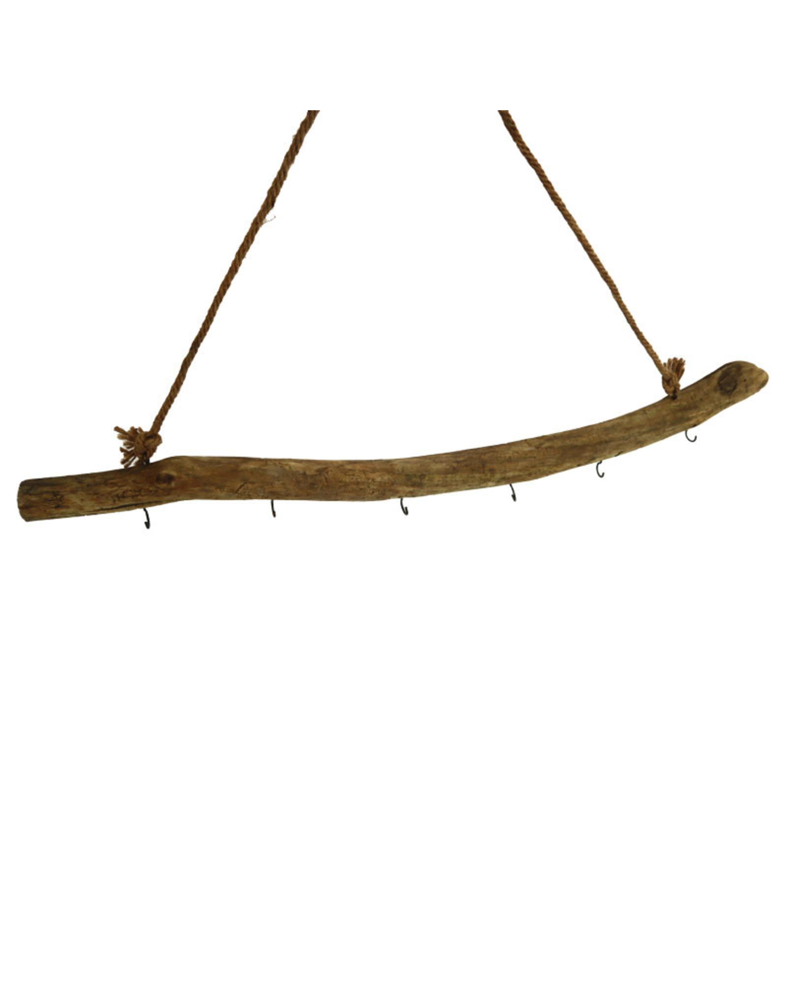 Dijk Historic Wood Stick Hanger with 6 Hooks 78x40cm
