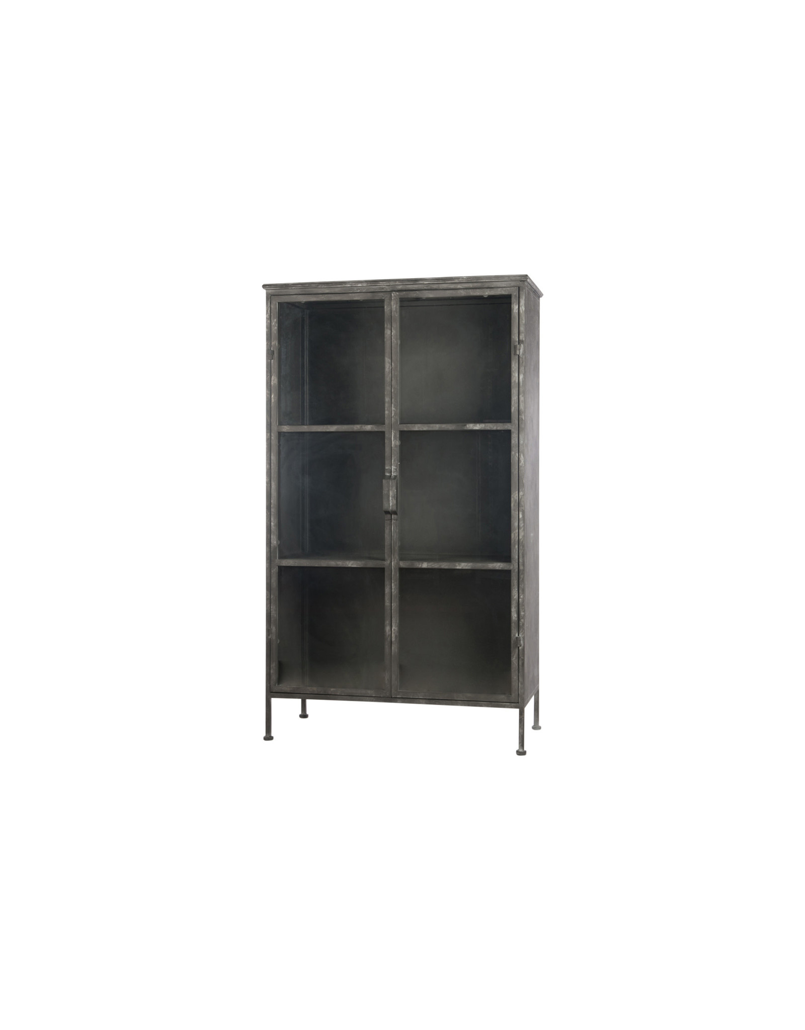 Dijk Cabinet metal antique black 82x37.5x142cm