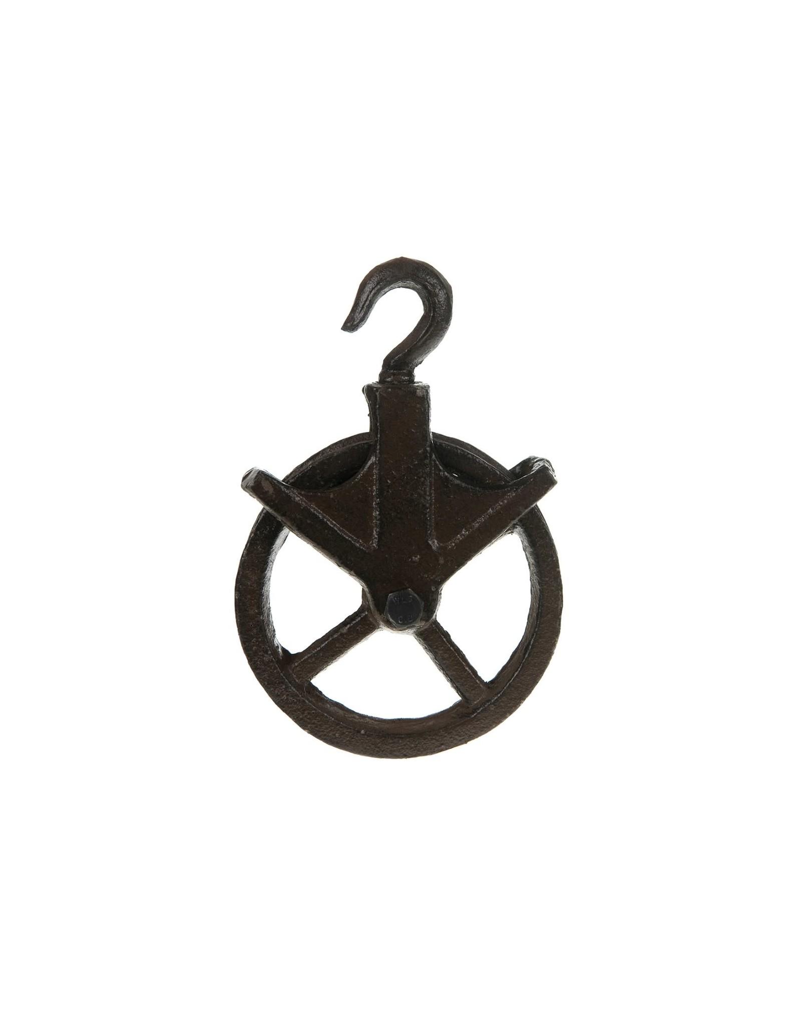 Dijk Hanging pulley cast iron dark brown 12x18x4.5cm