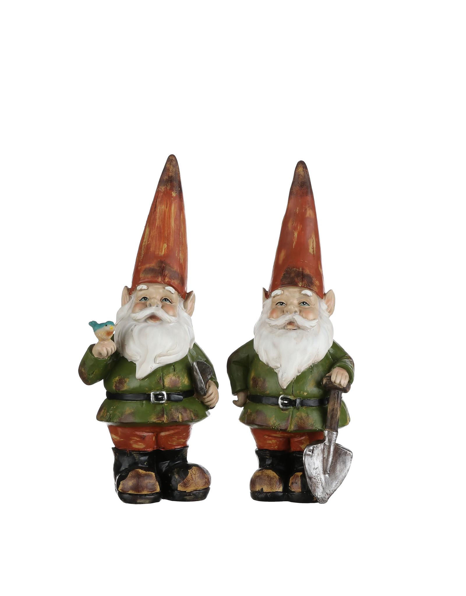 Mica Gnome green 2 assorted - l13,5xw11xh33cm