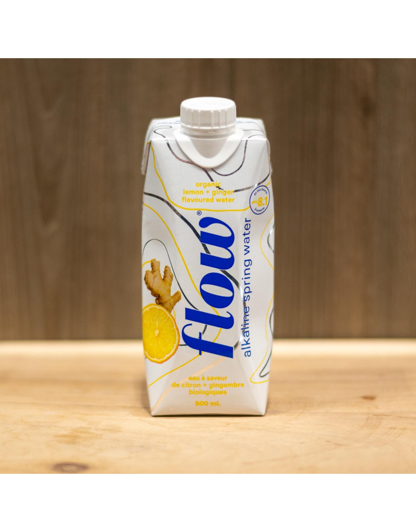 Flow Hydration Flow Water - Organic Lemon & Ginger Alkaline Spring Water - 500 ml