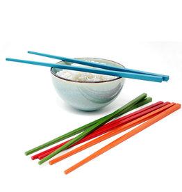 Zen Cuisine Reusable Chopsticks - Set of 4 Pairs - Colourful