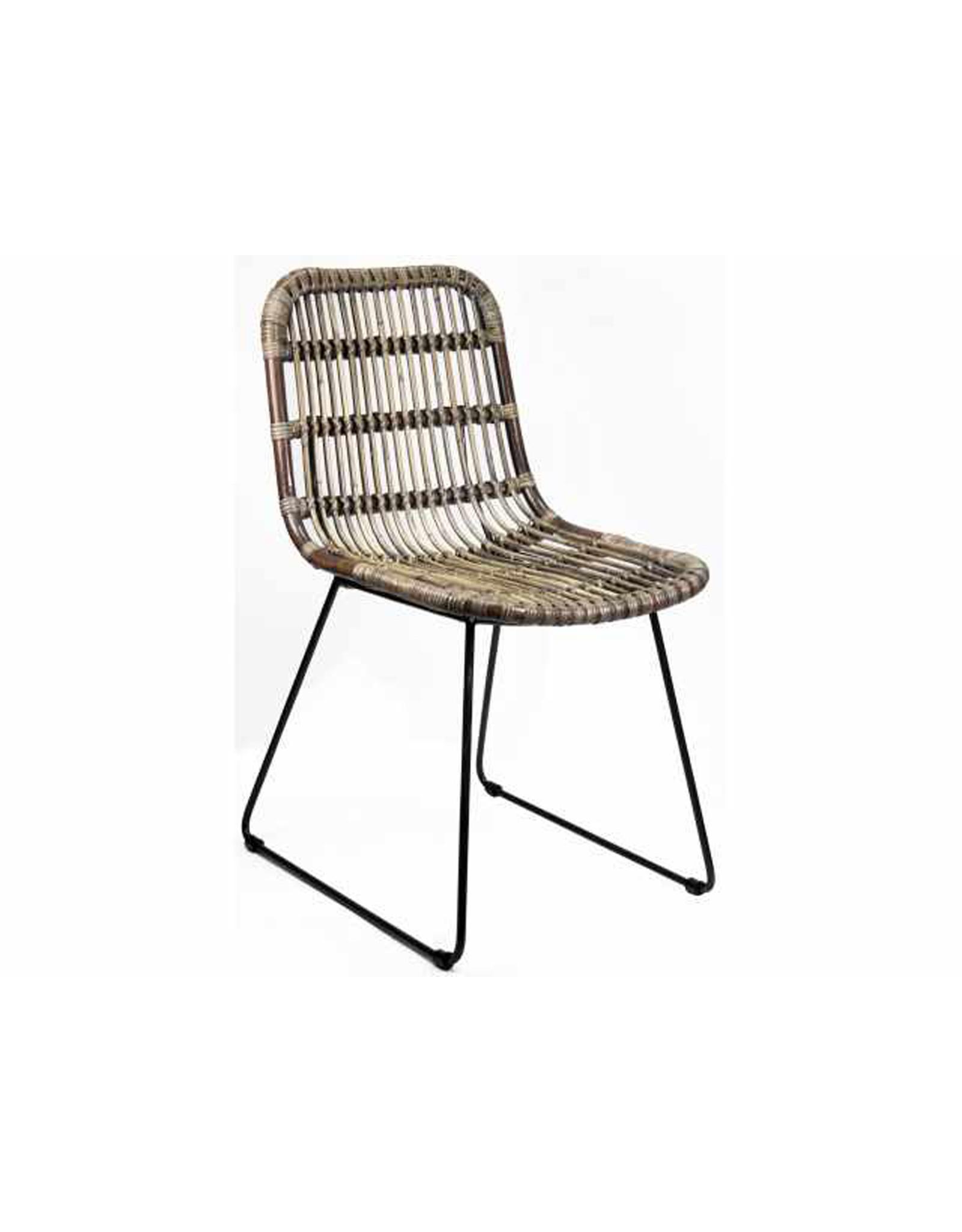 Van der Leeden Mandwerk Dining Chair Iron Brown 46X57H84cm